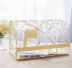 Wedding Gift Gold Gold Mailbox Wedding Card Holder Wedding Card Box