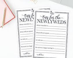bridal shower words of wisdom cards wedding words etsy