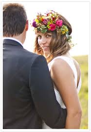 floral headdress beautiful boho bridal flower crowns chic vintage brides