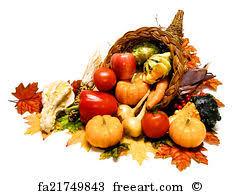 free print of thanksgiving cornucopia harvest or