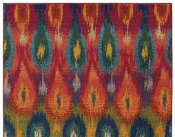 multi colored fuchsia ikat pattern rug woodwaves