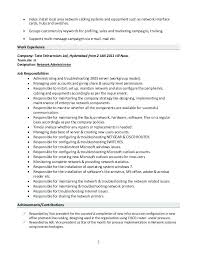 Linux Resume Process Linux System Administrator Resume Doc Example Network U2013 Inssite