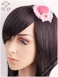 polka dot hair hairslides ribbons bows steunk metal