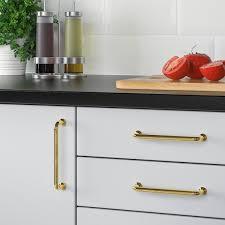 ikea kitchen cupboard knobs bagganäs handle brass color 5 5 8 ikea