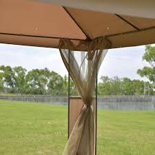 Patio Gazebos And Canopies by 2 Tier 10 U0027 X 10 U0027 Patio Steel Gazebo Canopy Shelter Canopies