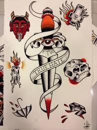 dagger skull sheet tattooshunt com