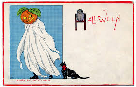 vintage halloween clip art pumpkin head ghost the graphics fairy