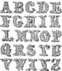 ornament alphabet vector vector page ornament