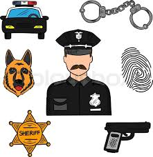 policeman sketch icon for law security and police professions