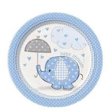 blue elephant baby shower edible cake topper frosting 1 4 sheet
