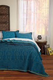Teal Coverlet Textileshop Rochelle Reversible Teal Blue 3 Piece Quilt Set