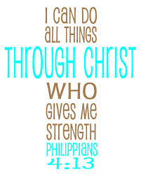 philippians 4 13 bible verse in a cross picture i can do all
