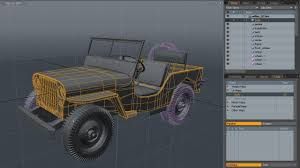 wwii jeep in action uv mapping a high poly world war ii willys jeep in modo part 1