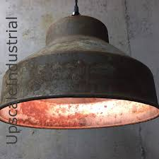 custom ceiling rusty pendant light vintage repurposed industrial