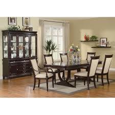 9 piece dining room furniture set in merlot cappuccino