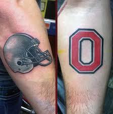 Ohio State Tattoos - ohio state football helmet mens forearm tatuagens