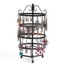 necklace organizer stand images Black metal necklace earrings holder jewelry organizer display jpg