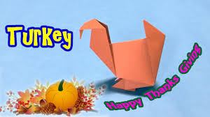 origami tutorial to make turkey for thanksgiving easy craft ideas