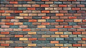 hip colorful fake brick textured wall for inspiring colorful