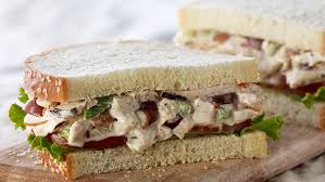 panera bread napa almond chicken salad sandwich on sesame semolina