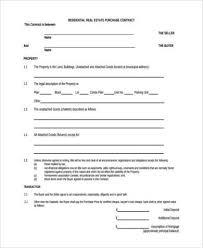 real estate purchase form samples 8 free documents in word pdf