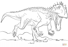 jurassic park indominus rex coloring page free printable