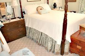 Bed Frame Skirt Gathered Bed Skirt Diy Achieving The Custom Look Hometalk