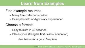 examples of resumes for jobs with no experience efficiencyexperts us
