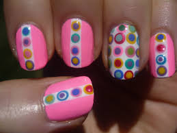 girly polka dot nail art tutorial part 2 youtube