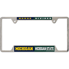 michigan state alumni license plate frame michigan state house divided license plate frame