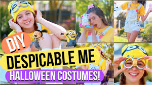halloween costumes minion diy despicable me halloween costumes minion and agnes youtube