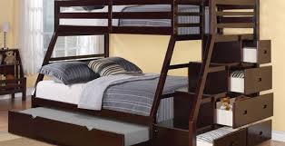 Bunk Bed For Adults Futon Dark Lacquered Mahogany Loft Bed Which Equipped With Twin
