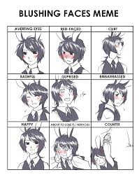 Blushing Meme - blushing faces meme by kotata on deviantart