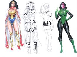 dc girls sketches by allpat on deviantart