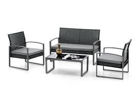 Ebay Esszimmer Rattan Lounge Set Sitzgruppe Garten Terrasse Rattan Stahl In Schwarz Grau