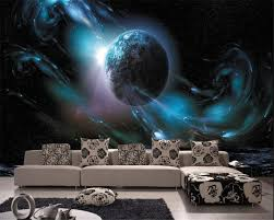 online get cheap outer space wallpaper aliexpress com alibaba group beibehang papier peint custom fantasy indoor cosmic outer space planet tv wall decoration wallpaper papel de