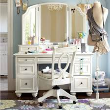 Folding Vanity Table American Continental Bedroom Wood Dresser Dressing Table