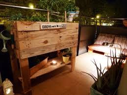 holzpaletten balkon sichtschutz nowaday garden