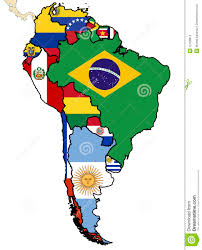 Political Map Of Latin America Political Map Of South America Stock Photos Image 12428813