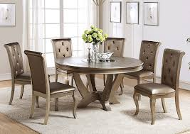 Dining Room Table With Lazy Susan Ivan Smith Mina Chagne Dining Table W Lazy Susan Insert
