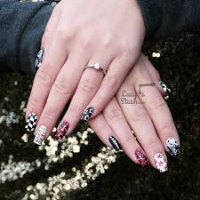 mix u0026 match red black u0026 white nail art design lucy u0027s stash