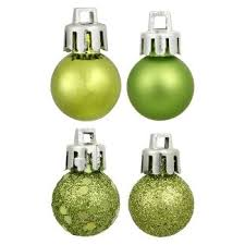 lime green ornaments target