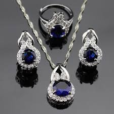 blue sapphire necklace set images Sapphire necklace and bracelet set just another wordpress site jpg