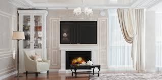 light neoclassical interior for the apartment in simferopol