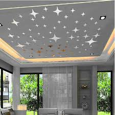 compare prices on acrylic ceiling mirrors online shopping buy low 43pcs 3d wall stickers twinkle stars mirror wall sticker ceiling decoration decal diy mirror effect home