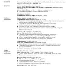 elementary resume exles middleol resume exles middle school exles of a