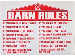 Red Barn Boarding Barn Rules Laughing Buck Farm