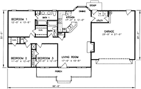 3 Bedroom 2 Bath 1 Story House Plans by Open Ranch Floor Plans For 3 Bedroom 2 Bath Homecar Garage Open