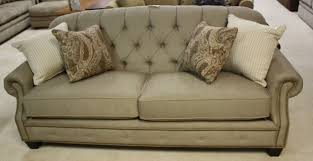 flexsteel dylan sofa champion transitional button tufted sofa with rolled arms and