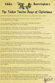 the tudor twelve days of christmas u2013 nerdalicious